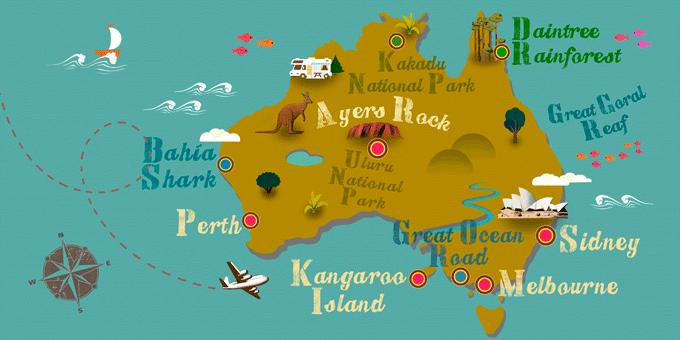 Australia - Map