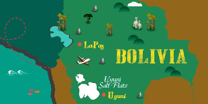 Bolivia - Map