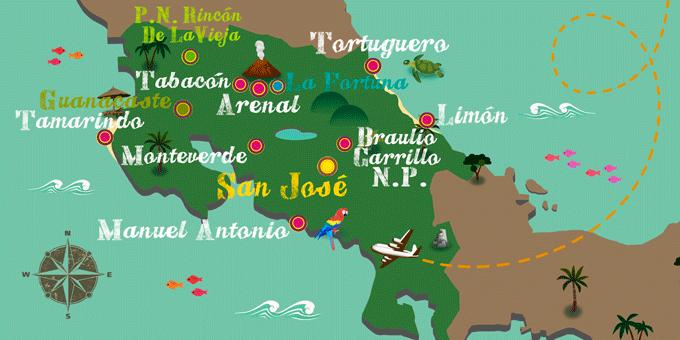 Costa Rica - Map