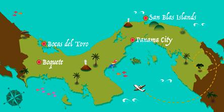 Panama - Map