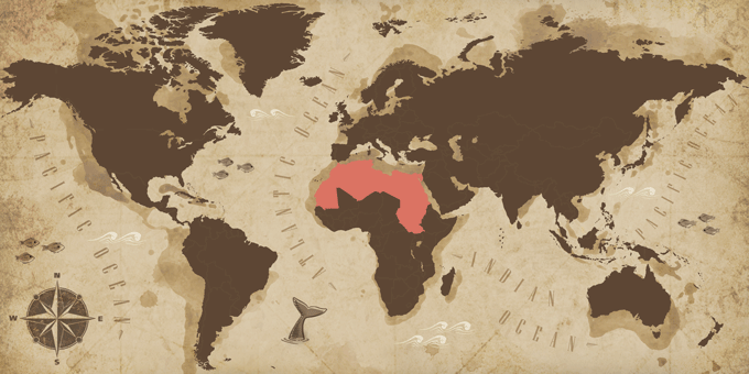 North Africa - Map