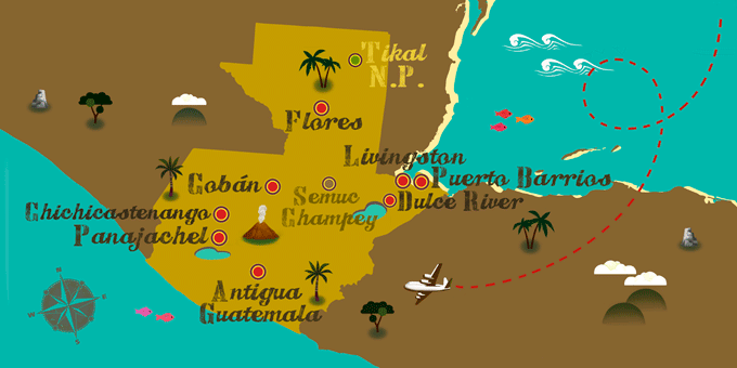 Guatemala - Map