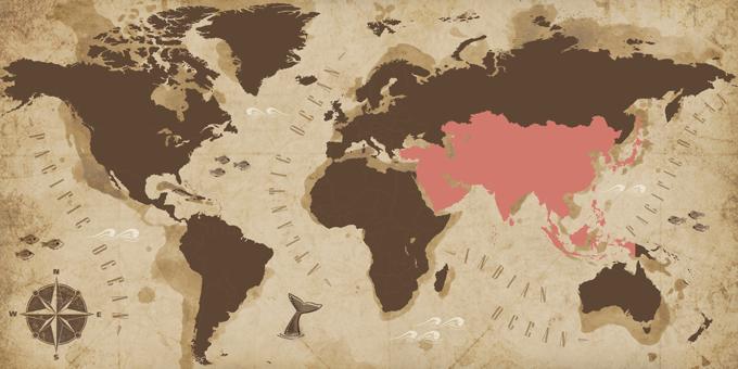 Asia - Mapa
