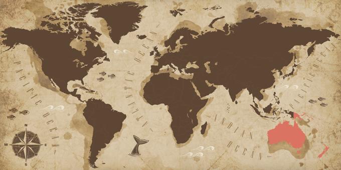 Oceanía - Mapa