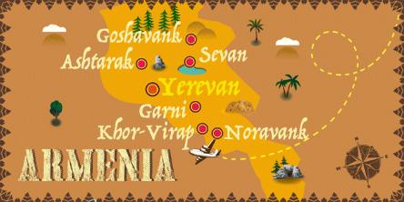 Armenia - Mapa