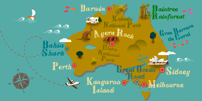 Australia - Mapa