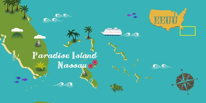 Bahamas - Mapa