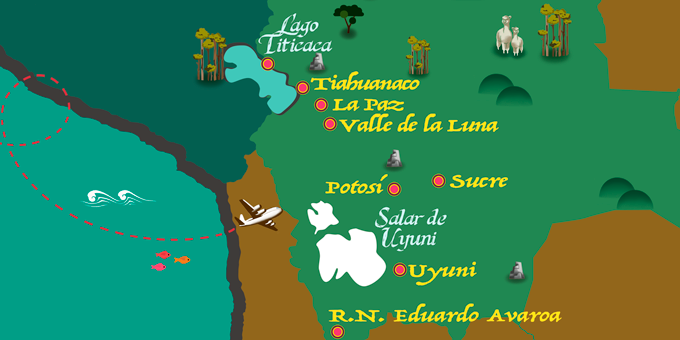 Bolivia - Mapa