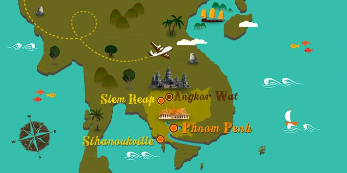 Camboya - Mapa