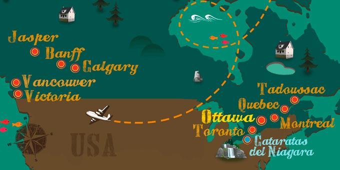 Canadá - Mapa
