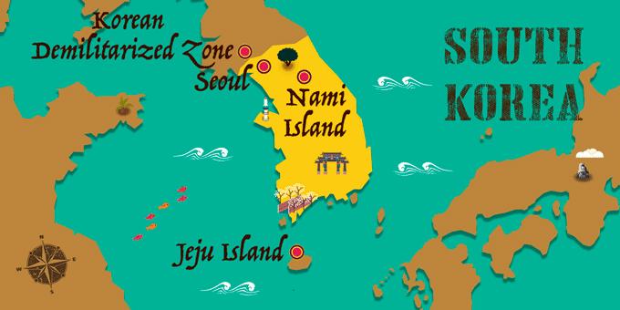 Corea del Sur - Mapa