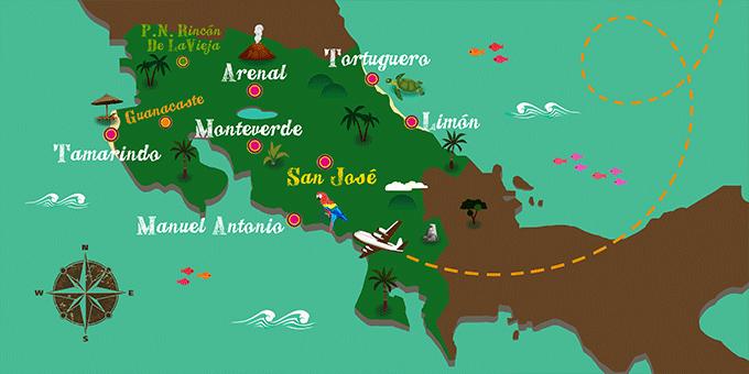 Costa Rica - Mapa