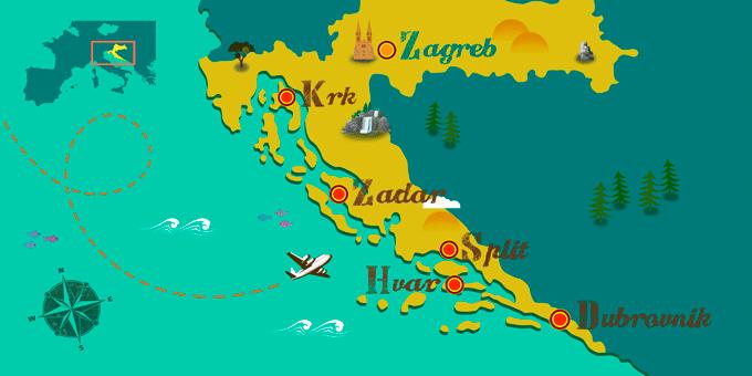 Croacia - Mapa