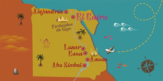 Egipto - Mapa