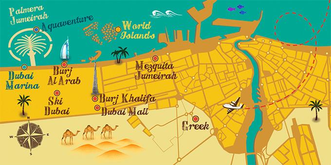 Emiratos Árabes - Mapa