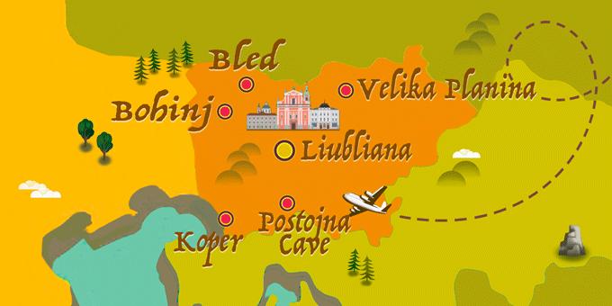 Eslovenia - Mapa