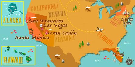 Estados Unidos - Mapa