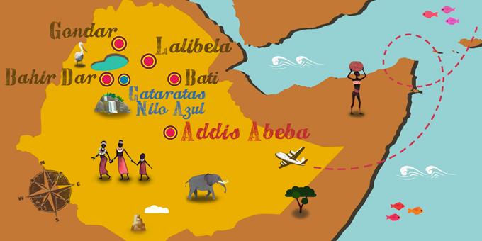 Etiopía - Mapa