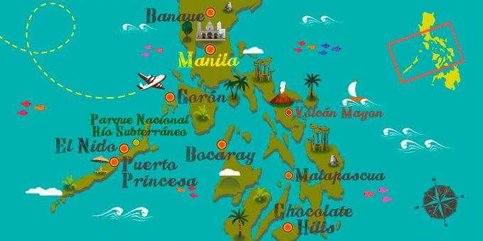 Filipinas - Mapa