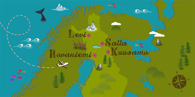 Finlandia - Mapa