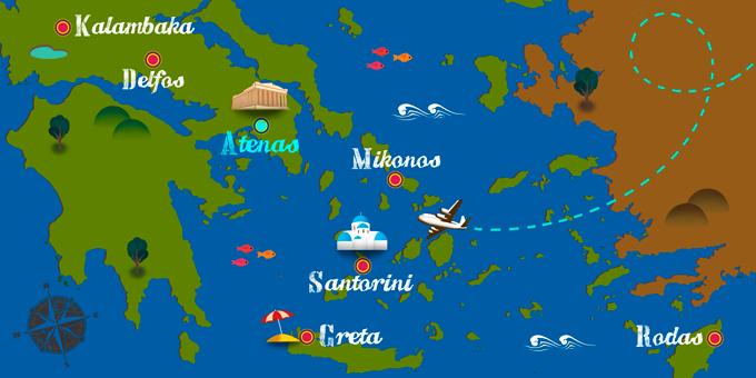 Grecia - Mapa