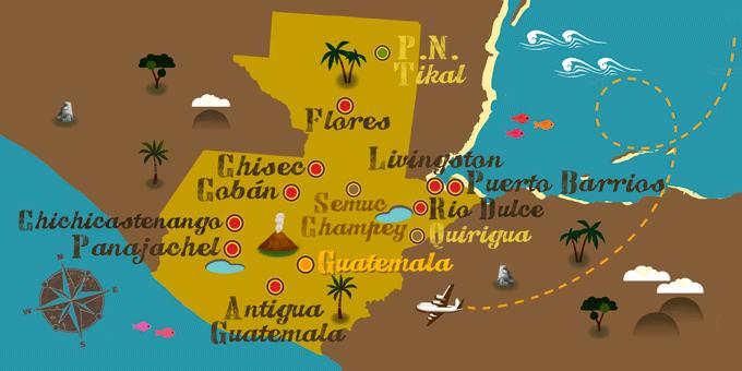 Guatemala - Mapa