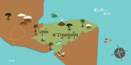 Honduras - Mapa