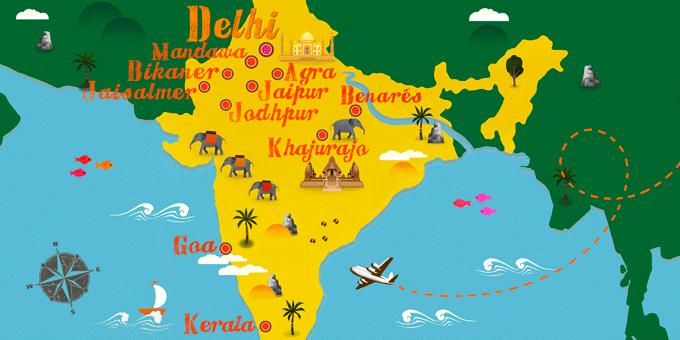 India - Mapa