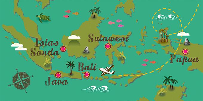 Indonesia - Mapa