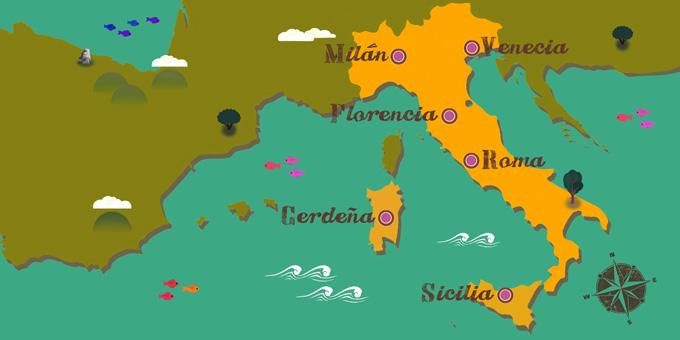 Italia - Mapa