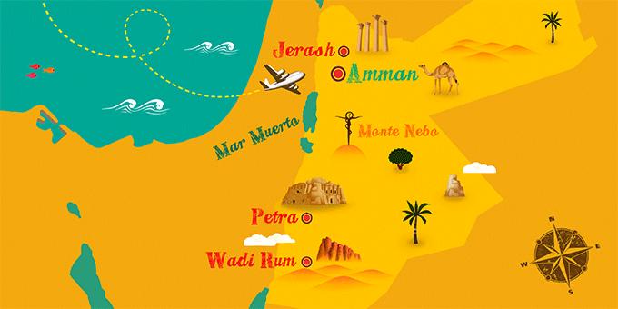 Jordania - Mapa