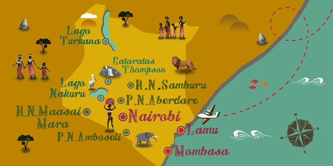 Kenia - Mapa