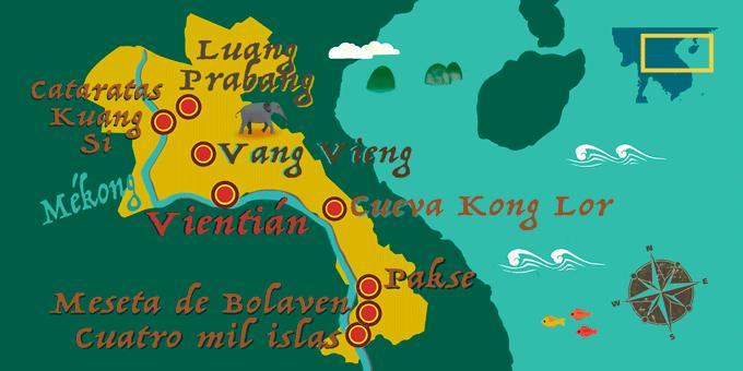 Laos - Mapa