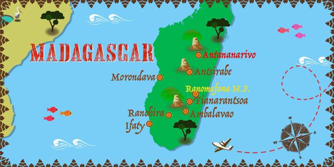 mapa Madagascar