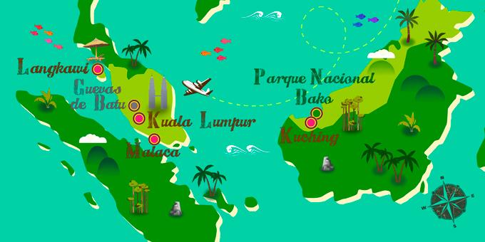 Malasia - Mapa