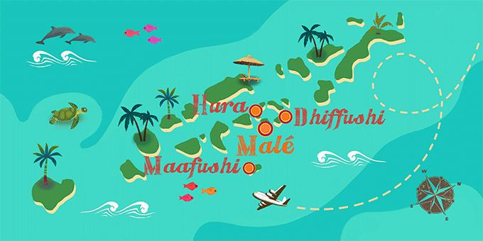 Maldivas - Mapa