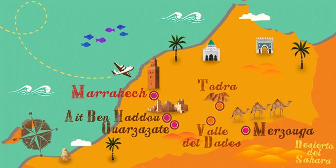 Marruecos - Mapa