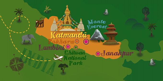 Nepal - Mapa