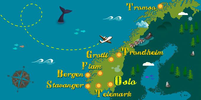 Noruega - Mapa