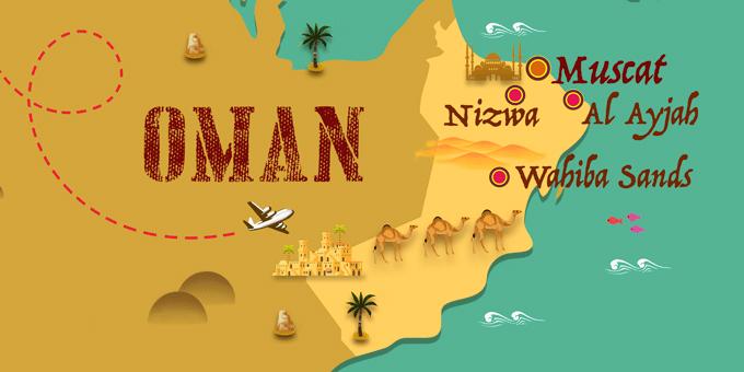 mapa Omán