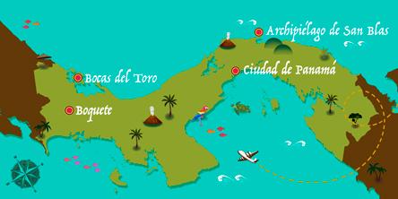 Panamá - Mapa