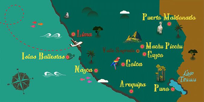 Perú - Mapa