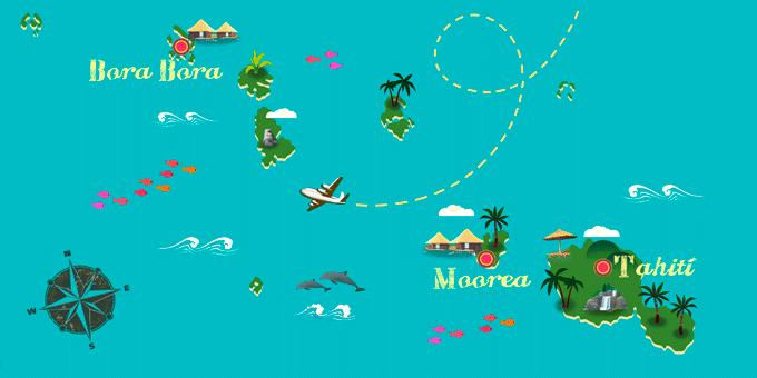 Polinesia Francesa - Mapa