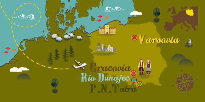 Polonia - Mapa