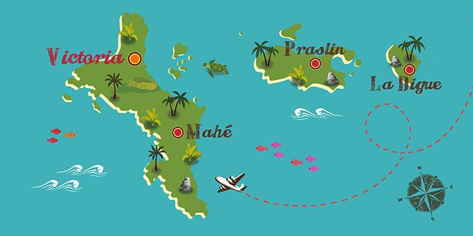 Seychelles - Mapa