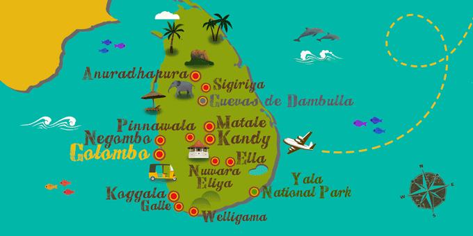 Sri Lanka - Mapa