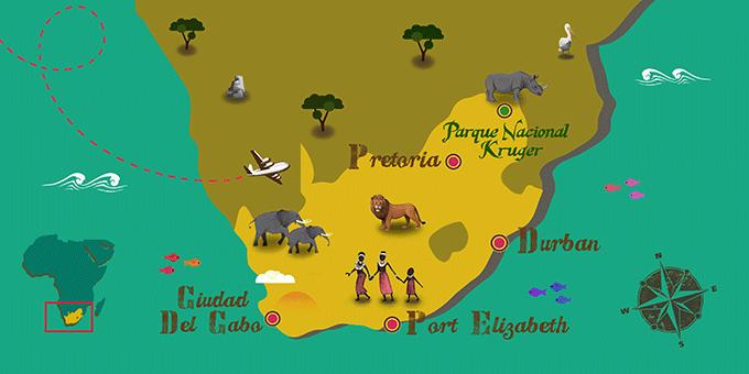 Sudáfrica - Mapa