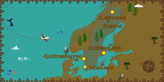 Suecia - Mapa