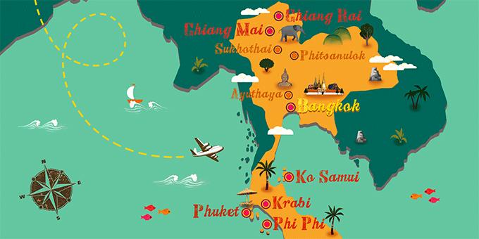 Tailandia - Mapa