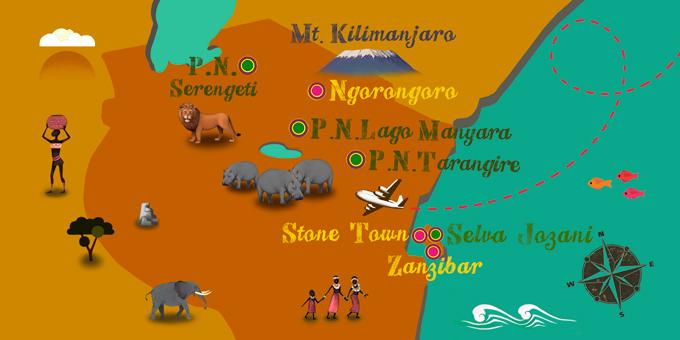 Tanzania - Mapa